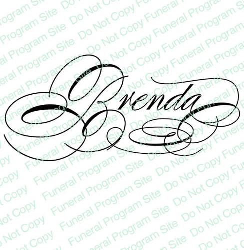 Brenda Name Word Art Name Design Template
