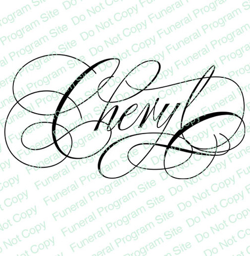 Cheryl Word Art Name Design Template