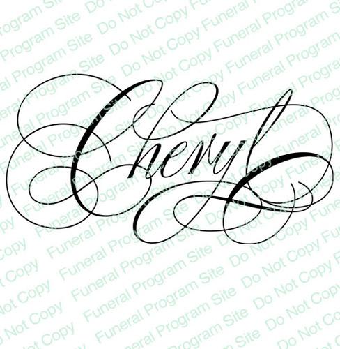 Cheryl Word Art Name Design Template