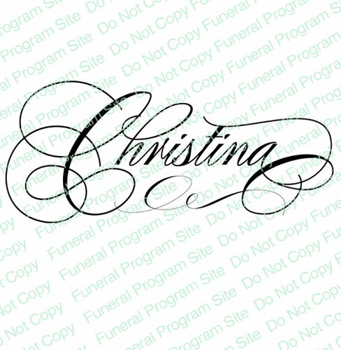 Christina Word Art Name Design
