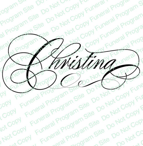 Christina Word Art Name Design