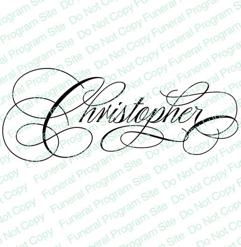 Christopher Word Art Name Design