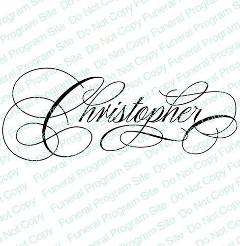 Christopher Word Art Name Design