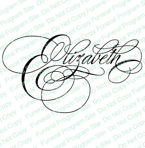 Elizabeth Word Art Name Design