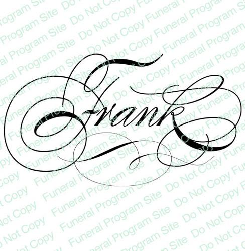Frank Word Art Name Design