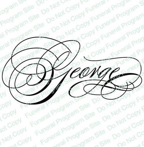George Word Art Name Design