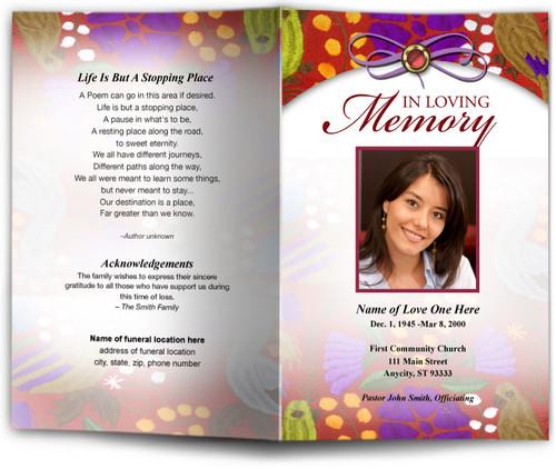 bonita funeral program