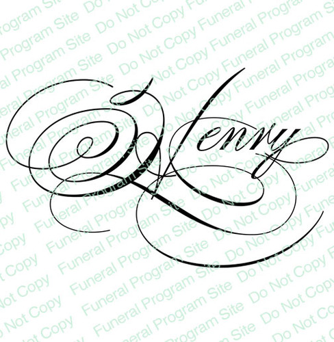 Henry Word Art Name Design