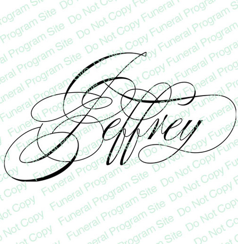 Jeffrey Word Art Name Design