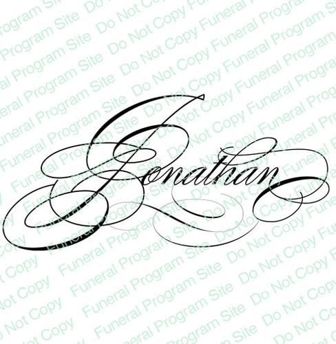 Jonathan Word Art Name Design