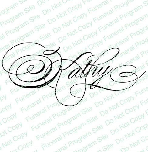 Kathy Word Art Name Design
