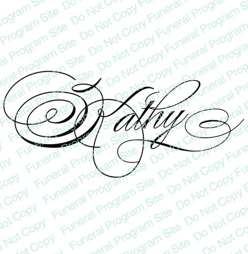 Kathy Word Art Name Design
