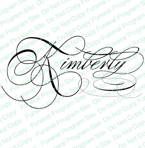 Kimberly Word Art Name Design