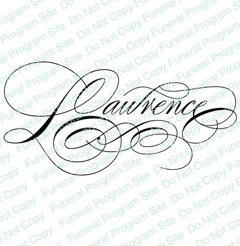 Lawrence Word Art Name Design