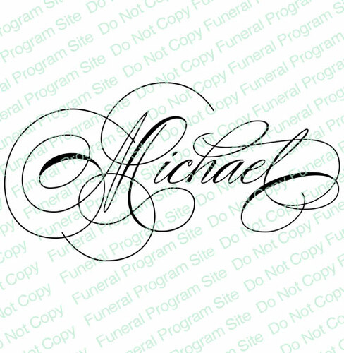Michael Word Art Name Design