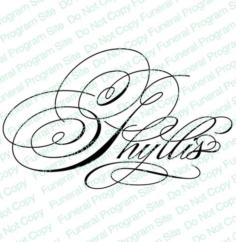 Phyllis Word Art Name Design