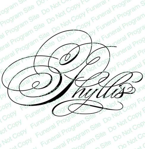 Phyllis Word Art Name Design