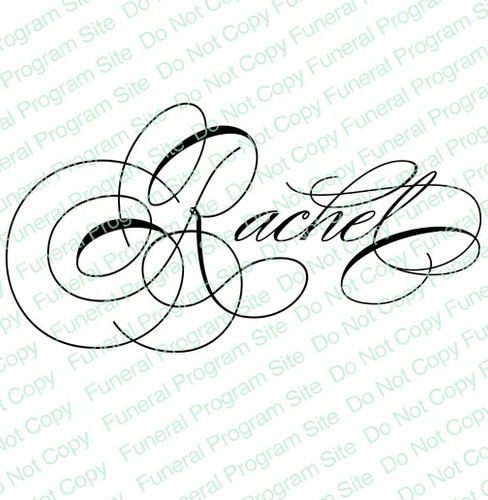 Rachel Word Art Name Design