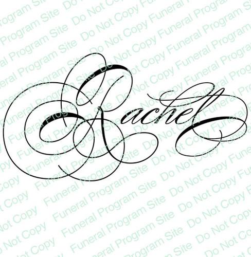 Rachel Word Art Name Design