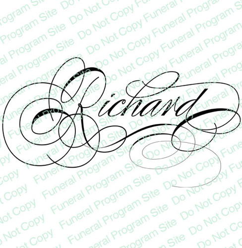 Richard Name Word Art