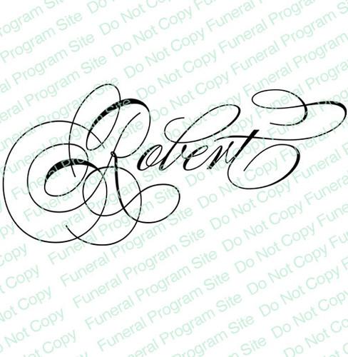 Robert Name Word Art