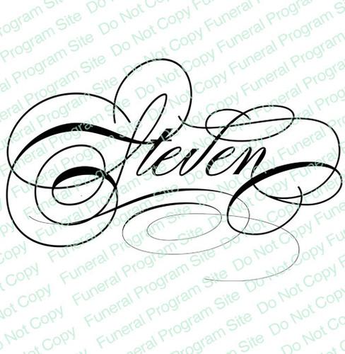 Steven Name Word Art