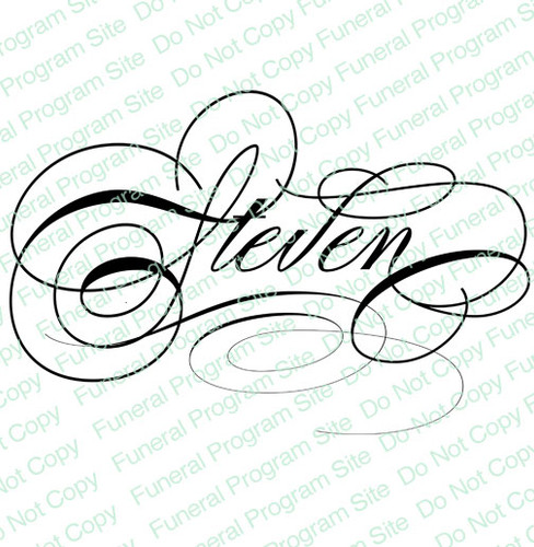 Steven Name Word Art