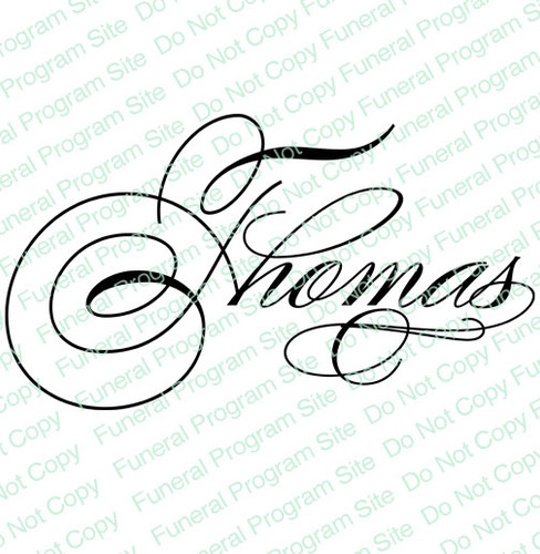 Thomas Name Word Art