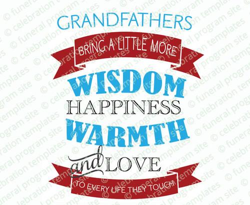 Grandfathers Bring Wisdom Word Art