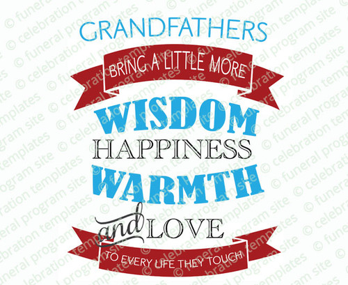 Grandfathers Bring Wisdom Word Art