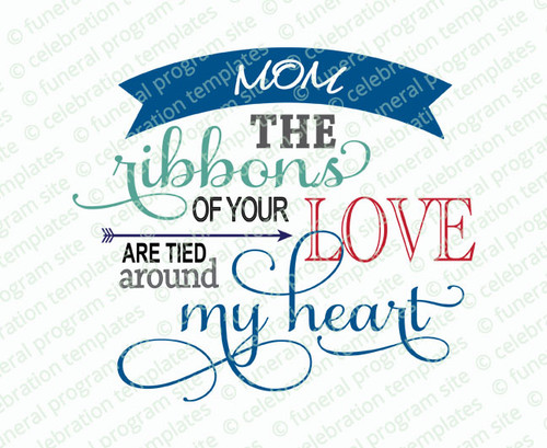Ribbons of Love Word Art