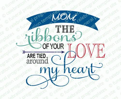 Ribbons of Love Word Art