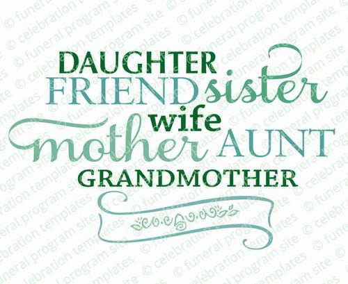 Sister Friend Word Art