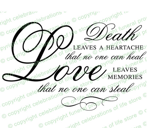 Death Is A Heartache Funeral Poem Word Art