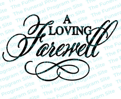 A Loving Farewell Funeral Program Title