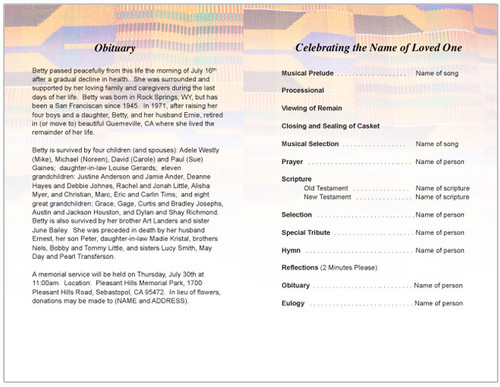 kente inside view funeral program template