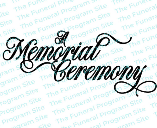 A Memorial Ceremony Funeral Program Title