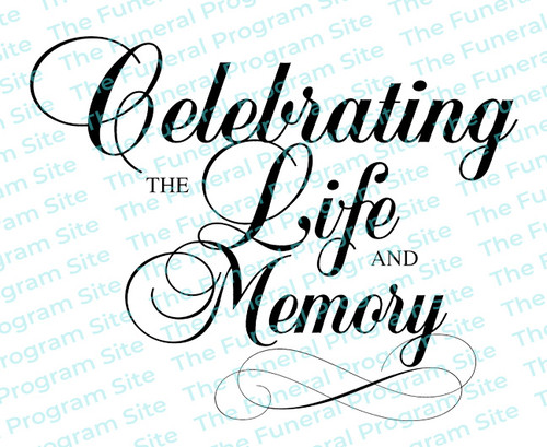 Celebrating Life and Memory Funeral Program Title