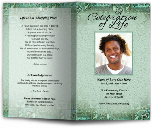 kwanzaa funeral program template