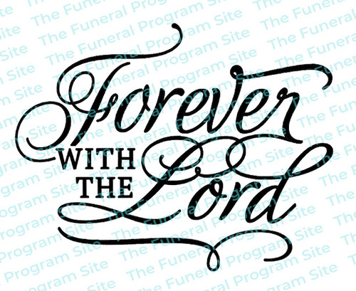 Forever With The Lord Funeral Program Title