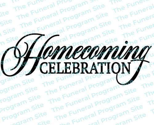 Homecoming Celebration Funeral Program Title
