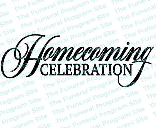 Homecoming Celebration Funeral Program Title