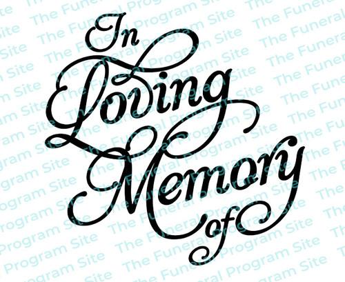 In Loving Memory Of Funeral Program Title