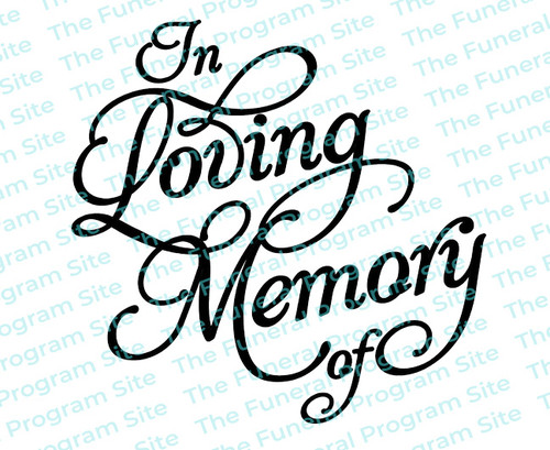 In Loving Memory Of Funeral Program Title
