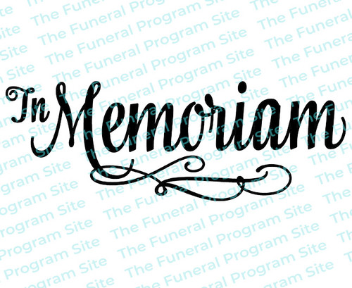 In Memoriam Funeral Program Title