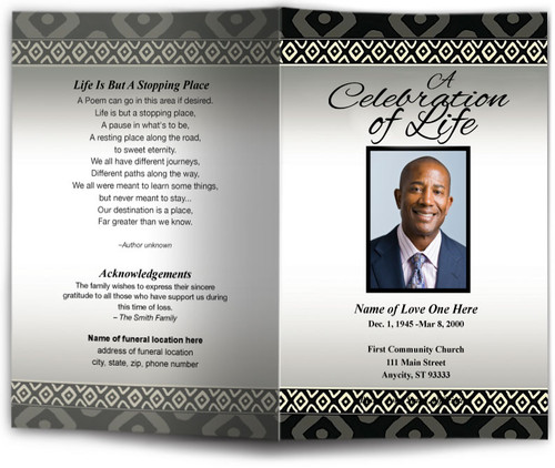 nigeria funeral program template