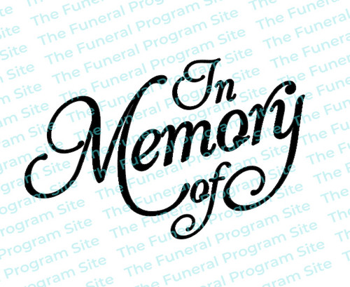 In Memory Of Funeral Program Title