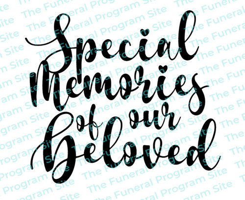 Special Memories of Our Beloved Funeral Program Title