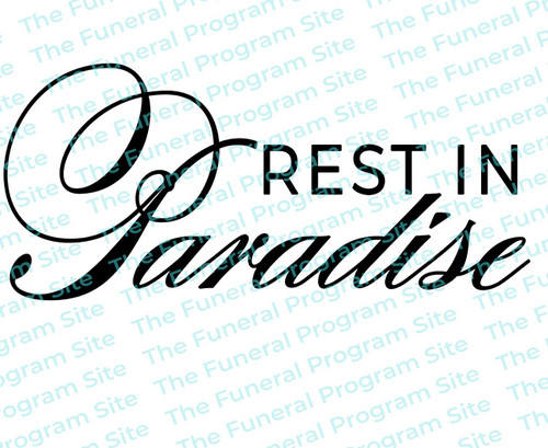Rest In Paradise Funeral Program Title