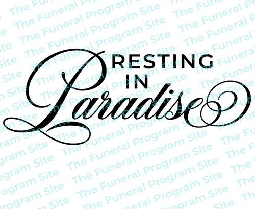 Resting In Paradise Funeral Program Title